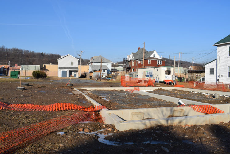 IOANNIS PASHAKIS/Sun-Gazette The Greater Lycoming Habitat for Humanity's newest home at 1608 Scott St., a duplex, will house two families when finished this year.