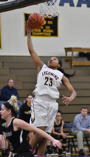 MARK NANCE/Sun-Gazette Lewisburg grad Akilah McFadden has been a big key for Lycoming's offensive scoring this season, as she currently averages 11.0 points per game.