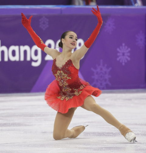 Alina Zagitova of the Olympic Athletes of Russia performs during the women's free figure skating final in the Gangneung Ice Arena at the 2018 Winter Olympics in Gangneung, South Korea, Friday, Feb. 23, 2018. (AP Photo/David J. Phillip)