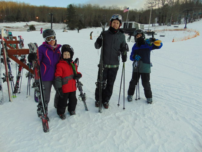 THOMAS ASK/Sun-Gazette Correspondent The Dougherty family, of Williamsport, enjoys a day at Ski Sawmill.