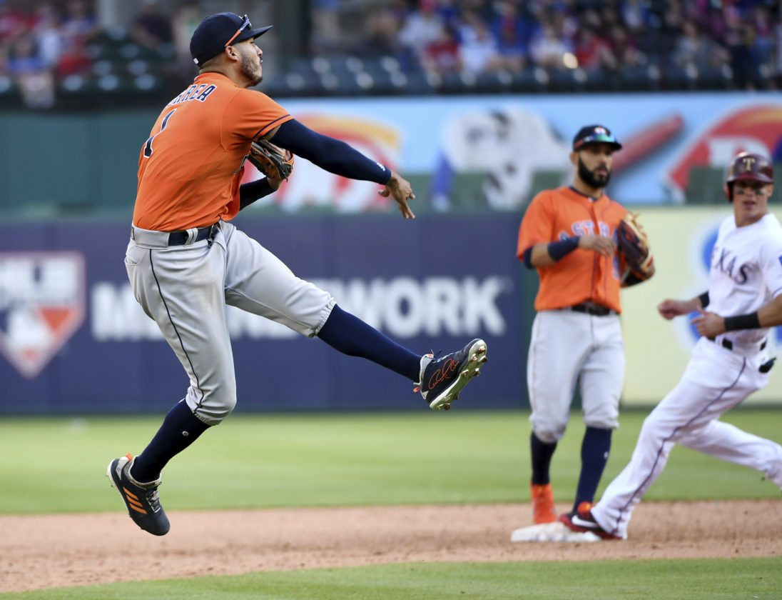 Cole fans 11 in Houston debut as Astros beat Rangers 8-2