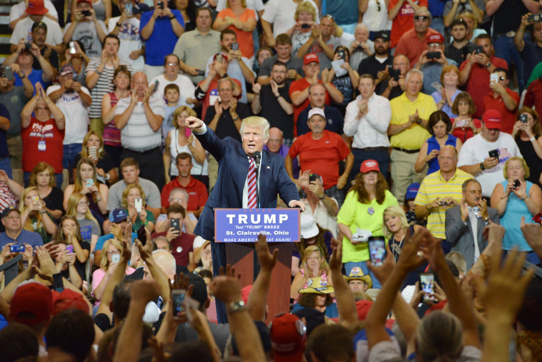 During Speech In St Clairsville Donald Trump Says America Has To