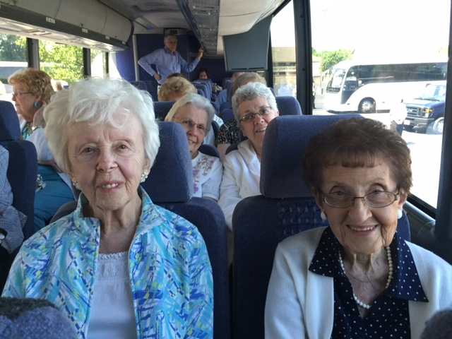 Photos Provided Participating in a coach trip  to Columbus organized by the Older People With Active Lifestyles group are, front row from left, Betty Danehart and Pat Danehart; back row from left, Dorothy Bartlett and Laura Brahler.