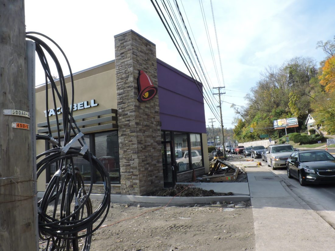 Photo by Janet Metzner Charter Central LLC and Charter Foods are working to  finish construction on a new Taco Bell along National Road in the Woodsdale  area ...