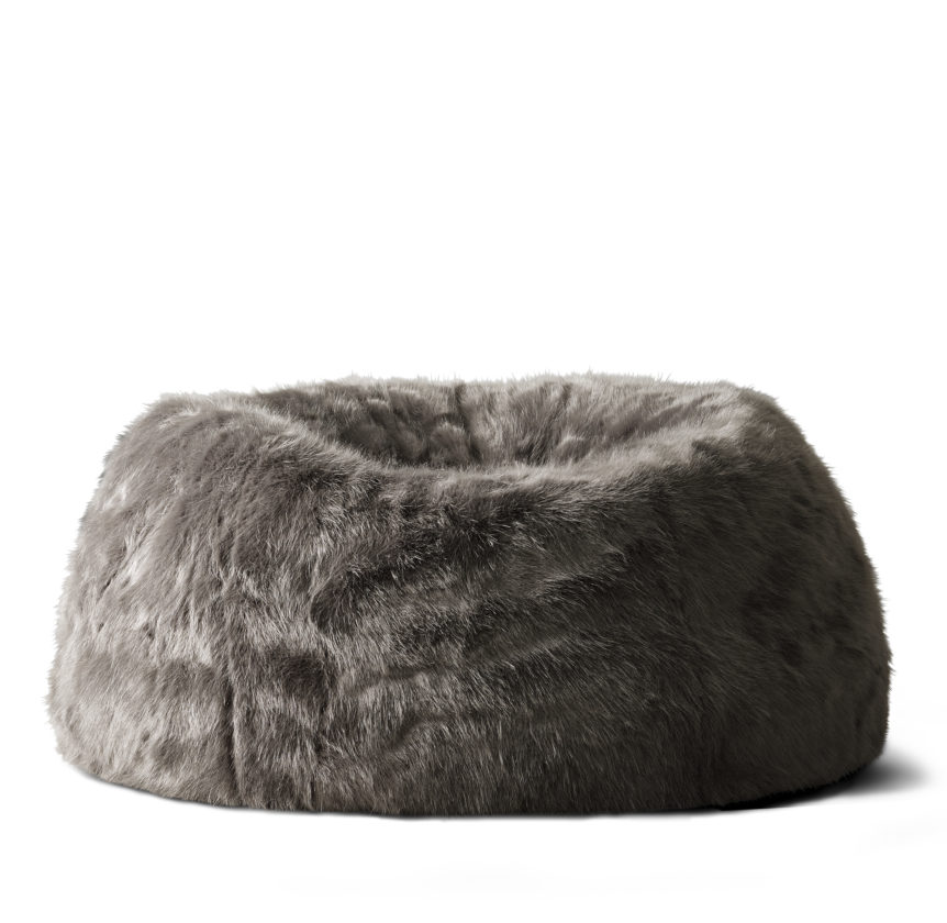 This Undated Photo Provided By RH Restoration Hardware Shows A Squooshy Faux Fur