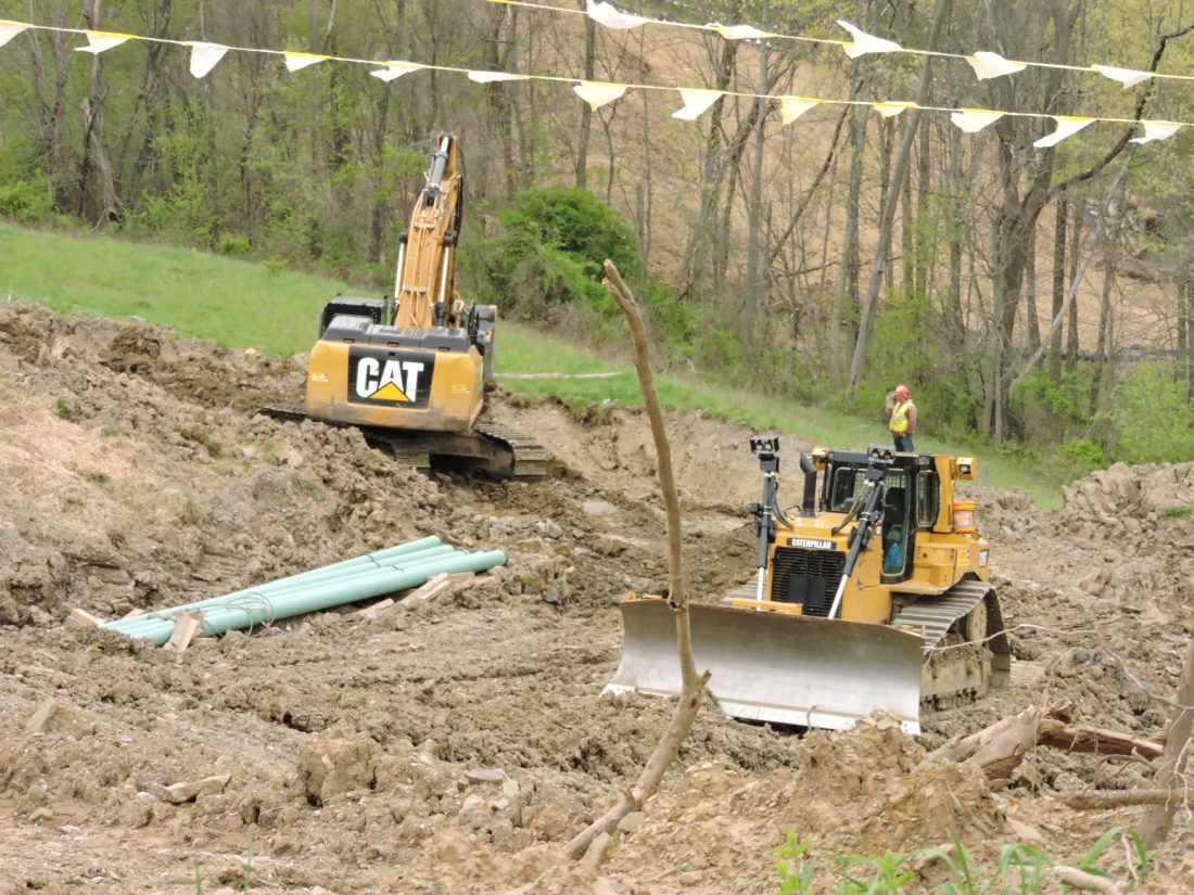 Photo by Casey Junkins Contractors continue building natural gas pipelines in Belmont County.