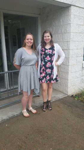 Photo Provided Rebeckah Barnette, left, and Brittney Ann Rose, both seniors at Valley High School in Pine Grove, will graduate today with degrees from West Virginia Northern Community College — two weeks before they graduate from high school.