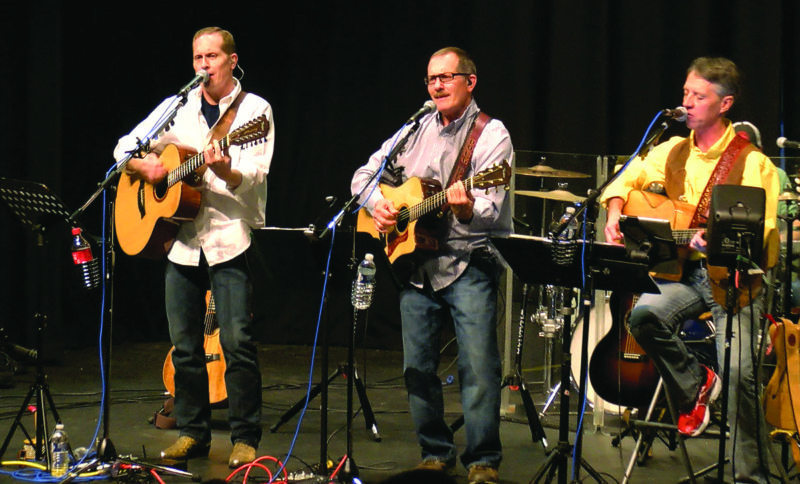 Photo Provided The three-part harmony acoustic band Bridges, featuring Kim Butler, Dave Pettit and Doug Pettit, will perform at 8 p.m. May 26 at Towngate Theatre in Wheeling. Special musical guests are expected to join them on stage.