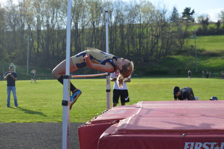 Magnolia's Bailey Estep will look to win a state title in the high jump this  weekend in Charleston.   Photo by  Kyle Lutz