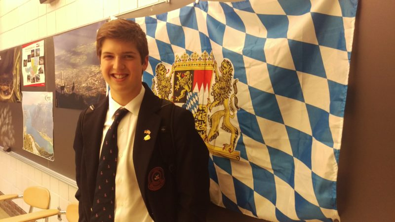 Linsly School sophomore Nathan Seymour will travel to Germany next school year through the selective Congress-Bundestag Youth Exchange Program.  Photo  Provided