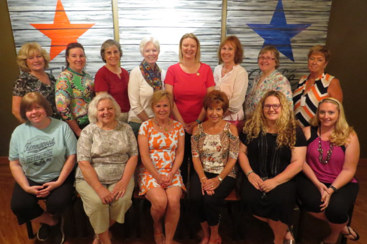 Photo Provided Pictured are Ohio County Schools tutors during the Tutorial Recognition at Wheeling Park High School on Wednesday, seated from left, Julie Kepreos, Mary Jane Rogerson, Linda Ferns, Joyce McCord, Suzanne Clutter and Lacey Gonzalez; standing from left, Candia Riddle, Meri Cummings, Jeanne Finstein, Becky Wilmoth, Melasa Swartz, Sara Blizzard, Loretta Hatcher and Christine Carder.