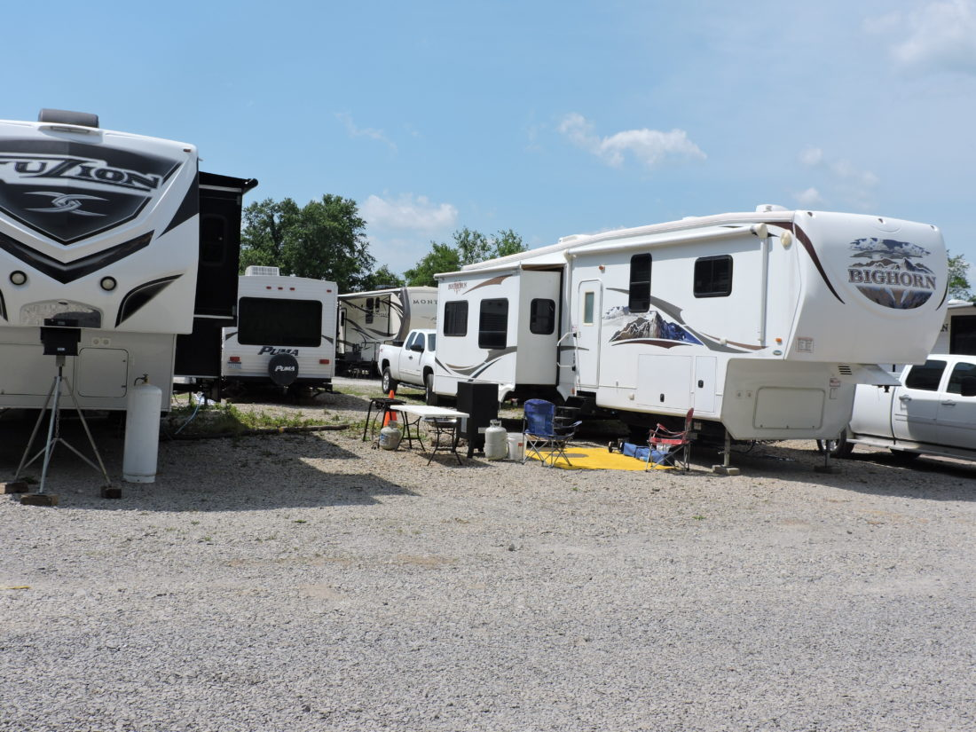 Photo by Alan Olson  The McMechen Recreational Vehicle Park is full, with 45 sites occupied within city limits, providing the sole source of revenue for that city's parks and recreation department.