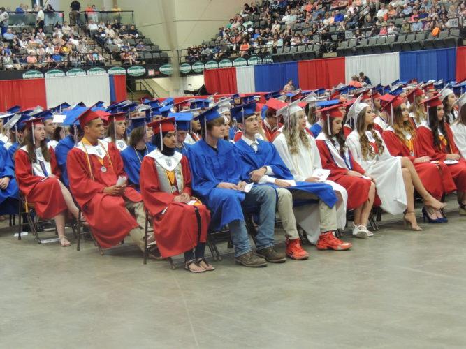 Photo by Drew Parker Wheeling Park High School graduates 350 students Sunday at WesBanco Arena.