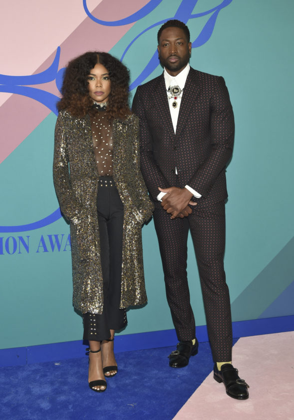 Gabrielle Union, left, and Dwyane Wade attend the CFDA Fashion Awards at the Hammerstein Ballroom on Monday, June 5, 2017, in New York. (Photo by Evan Agostini/Invision/AP)