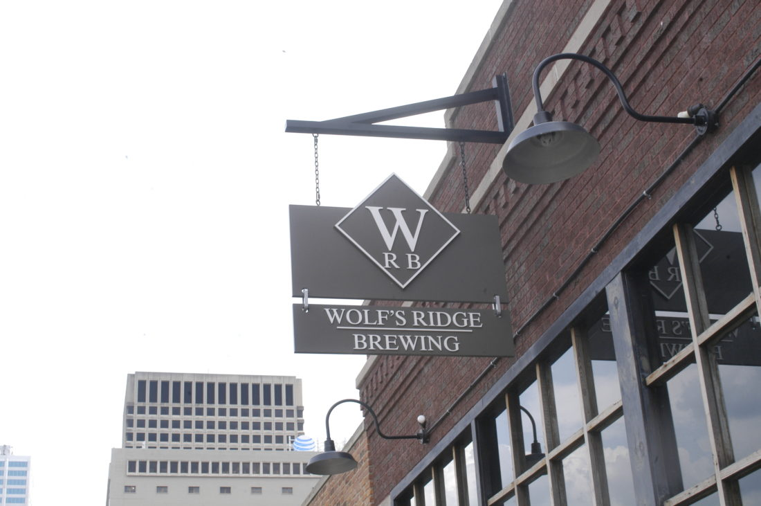 Wolf's Ridge Brewing on North Fourth Street in downtown Columbus.