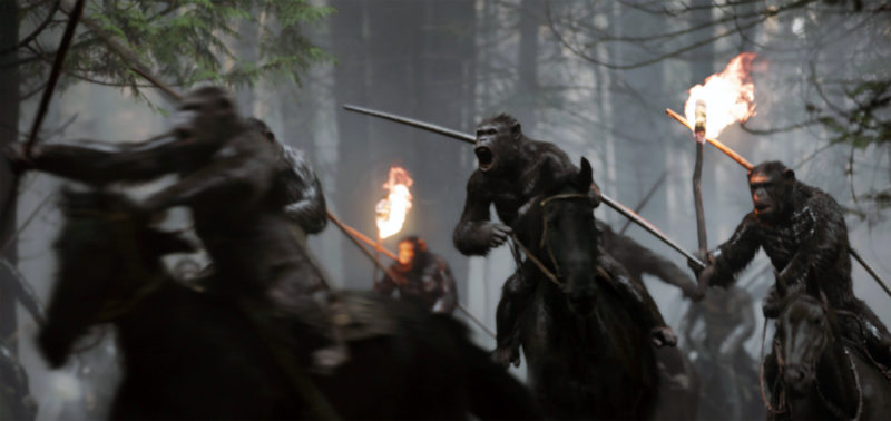 "This image released by Twentieth Century Fox shows a scene from, ""War for the Planet of the Apes."" (Twentieth Century Fox via AP)"