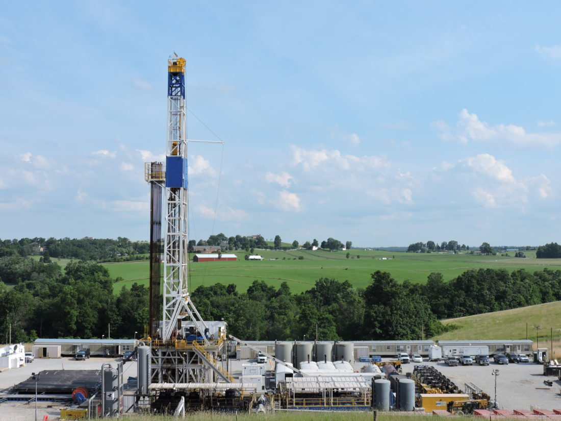 Photo by Casey Junkins As Marcellus and Utica shale drillers continue operating rigs, such as this one near St. Clairsville, the Washington, D.C.-based American Petroleum Institute indicates the industry will create 2 million more jobs nationwide by 2040.
