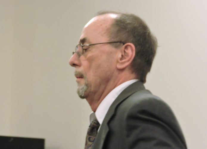 Photo by Robert A. DeFrank Thursday, Dr. Rodney Lee Curtis, a St. Clairsville urologist, pleads innocent to drug charges.