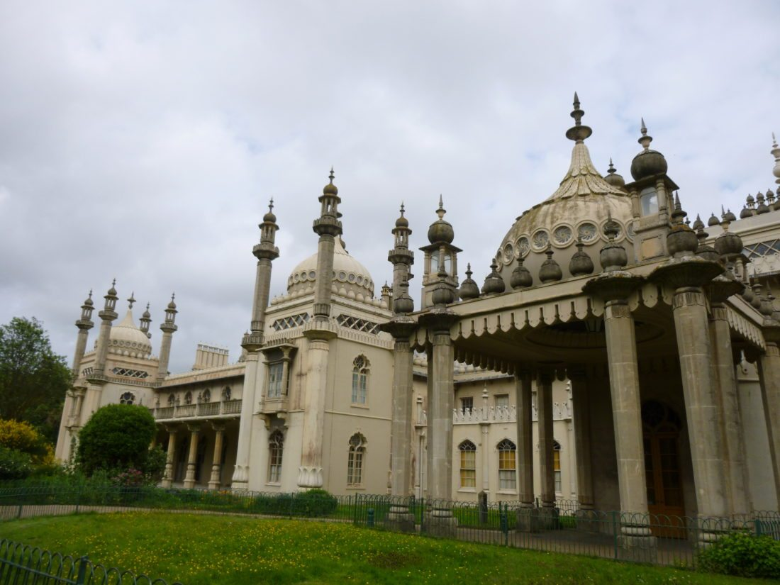 Indian elements dominate the architectural design of the Royal Pavilion, a palace built for the Prince of Wales (the future King George IV), in Brighton, England. The seaside residence also was used by King William IV and Queen Victoria, who later sold the property.