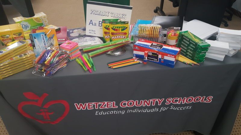 Photo by Lauren Matthews Wetzel County Schools' students will not need to worry about purchasing school supplies for the upcoming school year, as the school system has purchased all necessary supplies.