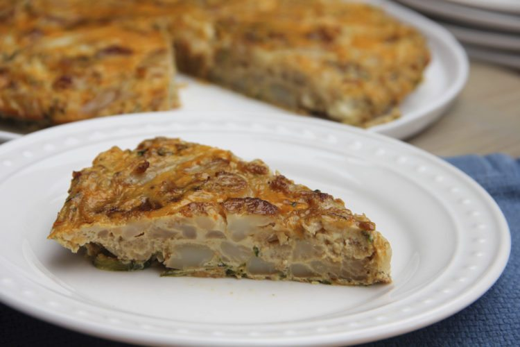 This June 24 photo shows a zucchini and chorizo Spanish tortilla in Coronado, Calif. This reduced-fat dish is from a recipe by Melissa d'Arabian.  AP Photo
