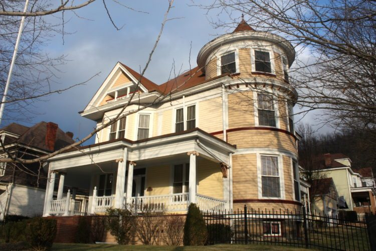 This is one of the Warwood homes  featured in the new walking tour, the         Dowler-Shreyer House at 1900 Warwood Ave. Also known as Shady View, it is owned by Sandy and Jeff Mauck and dates to 1906.  Photo  Provided