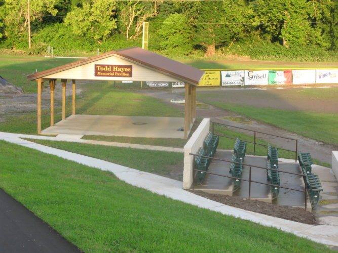 Photo by Bubba Kapral. Pictured is the Todd Hayes Memorial Pavilion at the John Marshall High School baseball field in Glen Dale.