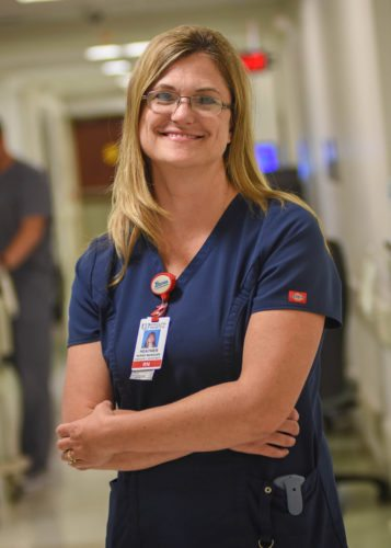 Photo Provided Heather Merkel, manager of the Wheeling Hospital Emergency/Trauma Center, is on the front lines in the battle against opioid drug epidemic.