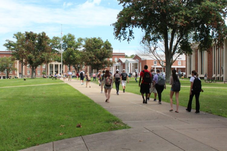 Photo Provided West Liberty University students are seen moving on to the campus at the beginning of the 2016-17 school year. University officials expect an 11-percent increase in enrollment for the coming school year.