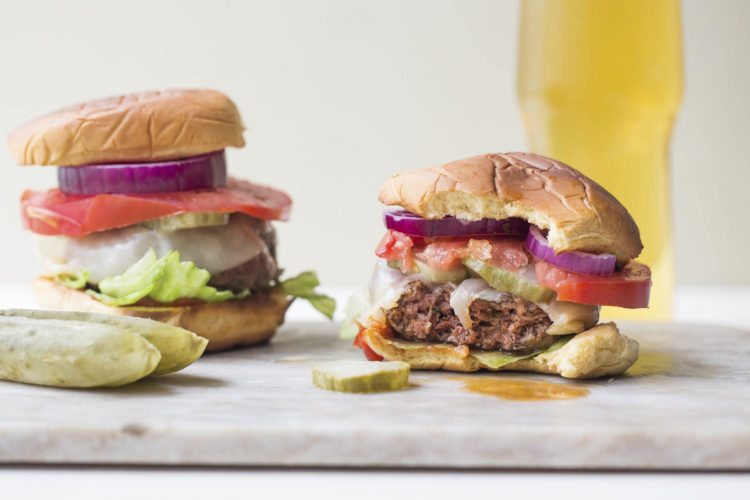 Deviled burgers are from a recipe by Katie Workman. (Sarah Crowder via AP)