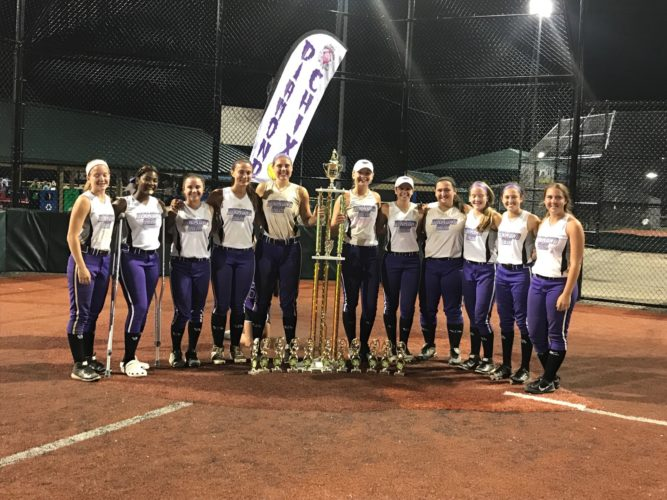 The Diamond Chix 16U softball team won the 124-team All Sanctioned World Series in Columbus. The team in comprised of John Marshall's Lauren Garcia, Maddy Mayle, Lydia Knutsen, Mack Hall and Abby and Anna Blake, as well as Steubenville's Kameron DiMarzio and Jaliyah Hubbard, Linsly's Maddie Menendez, Bridgeport's Brooklyn Ruble and Magnolia's Ashley Tharp. Not pictured is River's Livi Rose.