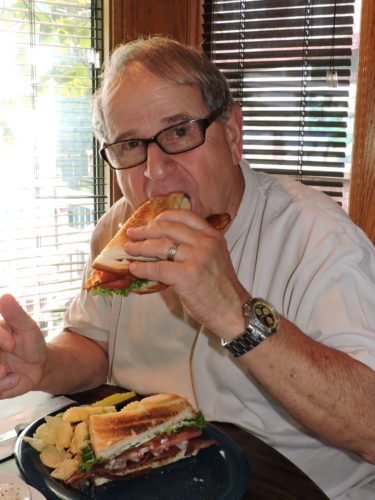 Photo by Casey Junkins Wheeling resident Ron DiProsperis enjoys a BLT sandwich Thursday at Uncle Pete's restaurant on Main Street.
