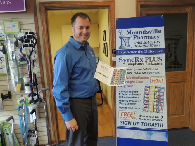 File photo by Drew Parker Moundsville Pharmacy owner Jason Turner has been nominated for a national award.