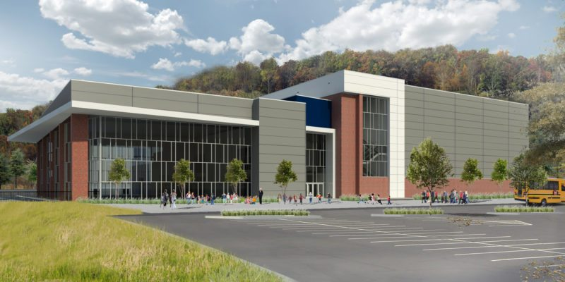 Photo Provided Construction for the Mountaineer Center at Mylan Park in Morgantown is underway. It will serve as the future home of the West Virginia state swim meet.