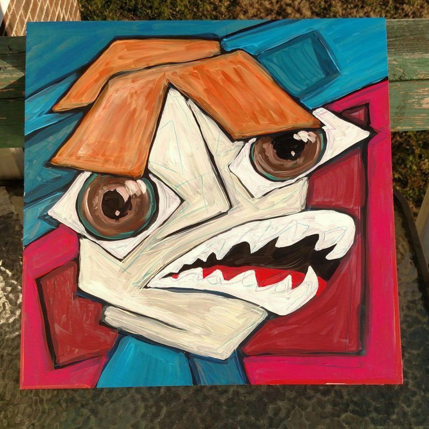 """Above, """"ROWDY CRAZYMOUTH"""" by jason sauer"""