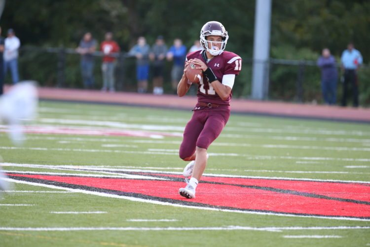 Photo by Alex Kozlowski Wheeling Central quarterback Curtis McGhee makes his first career road start Friday against East Hardy.