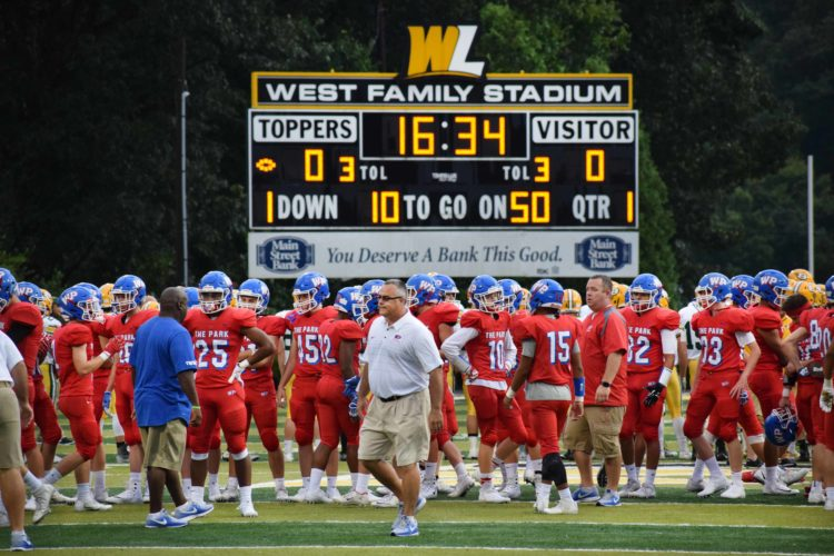 Photo by Scott McCloskey Wheeling Park will play at Wheeling IslandStadium for first time this season when it welcomes the undefeated University Hawks.