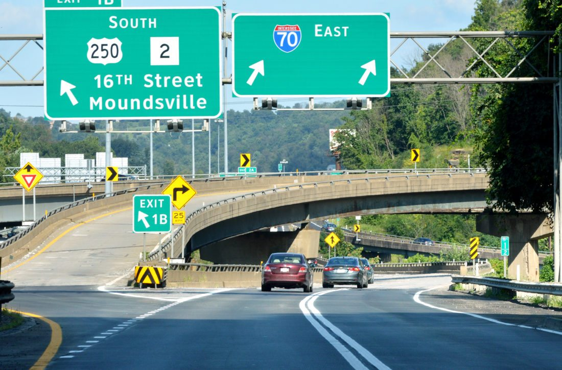 Photo by Scott McCloskey Interstate 70 in Ohio County would see more than $172 million in bridge upgrades if voters pass a $1.6 billion statewide road bond referendum on Oct. 7.