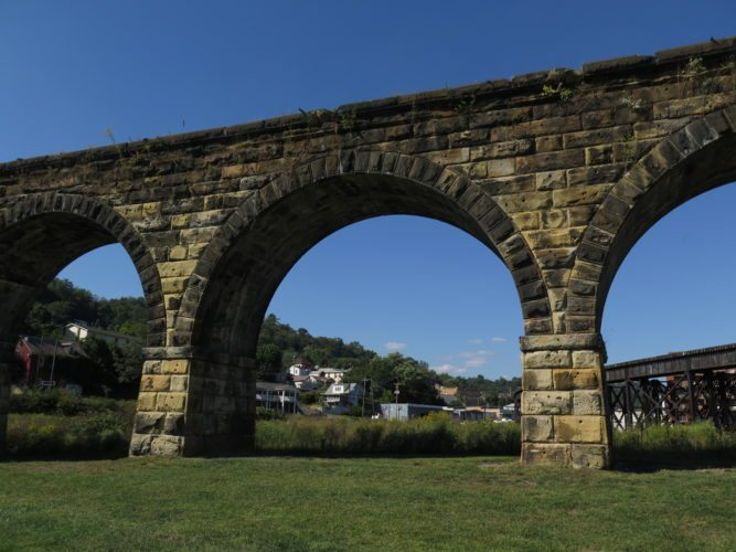 File Photo Bellaire's Great Stone Viaduct Society has been approved for a $1.9 million Ohio Department of Transportation grant to transform the historic structure into the centerpiece of a new park, although about $350,000 in local matching funds will need to be raised.