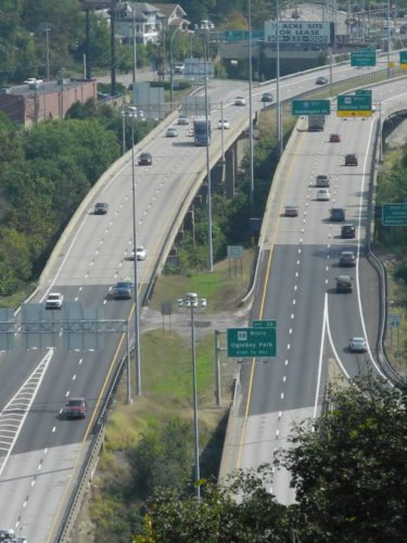 Photo by Casey Junkins Interstate 70 in Ohio County is pictured from the top of Wheeling Hill.