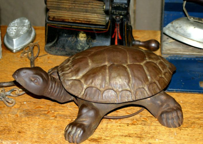 Photos Provided This turtle spittoon is a wonderful example of a clever design.