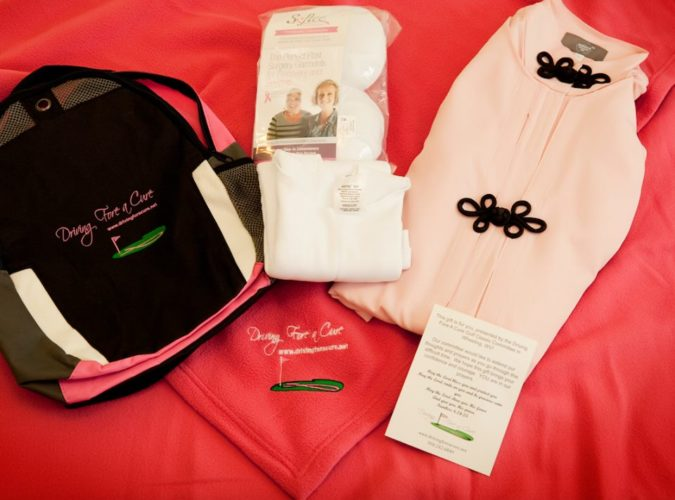 Photo Provided Softee Camisoles, Spirited Sisters robes and soft blankets with the Driving Fore a Cure logo are provided to mastectomy patients by Ohio Valley Breast Cancer Awareness Inc. The annual Driving Fore a Cure golf tournament at Oglebay Park is the nonprofit organization's major fundraiser.