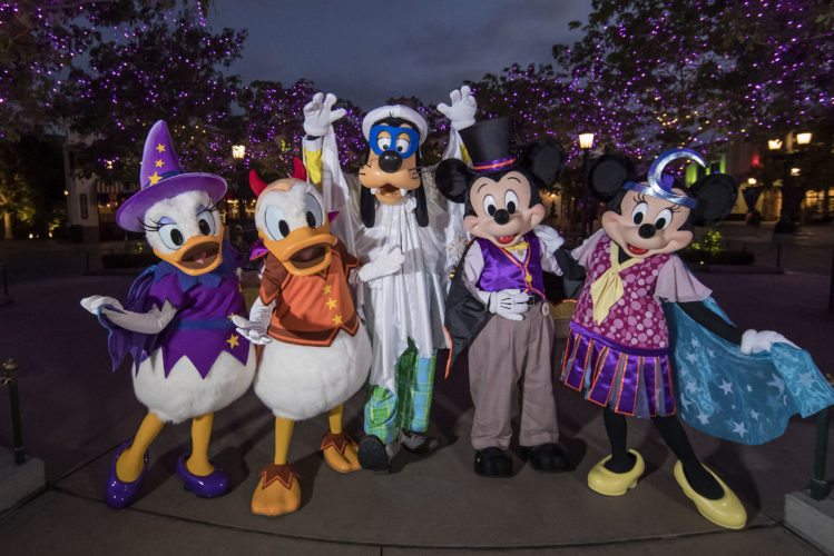 """Mickey Mouse and other Disney characters ae dressed up for Halloween on Buena Vista Street at Disney California Adventure park in Anaheim, Calif. Also new this year at the park, Cars        Land is               decorated            for a                """"Haul-o-Ween"""" celebration.   APPhoto"""