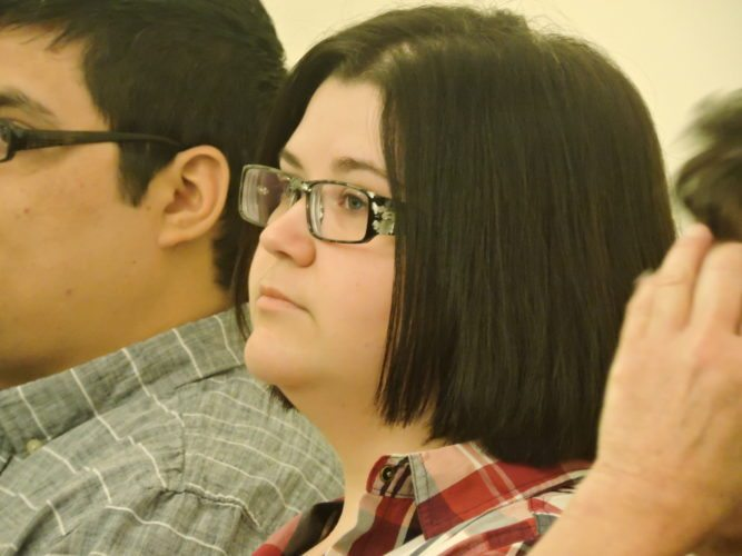 Photo by Robert A. DeFrank Tiffany Ann Cordes, a teacher at Union Local School District, appears Tuesday in Belmont County Common Pleas Court.