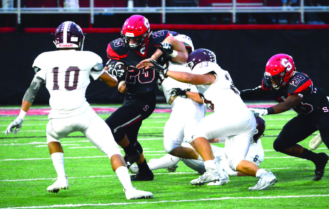 Photo by Mike McElwain Steubenville leading rusher Jacob Bernard has been a load for defenders to bring down all season.