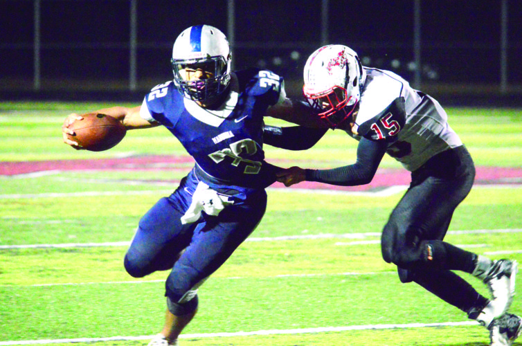 Photo by Michael D. McElwain Madonna running back Donavan Kirby (32) leads the Ohio Valley in rushing yards with 1,897.