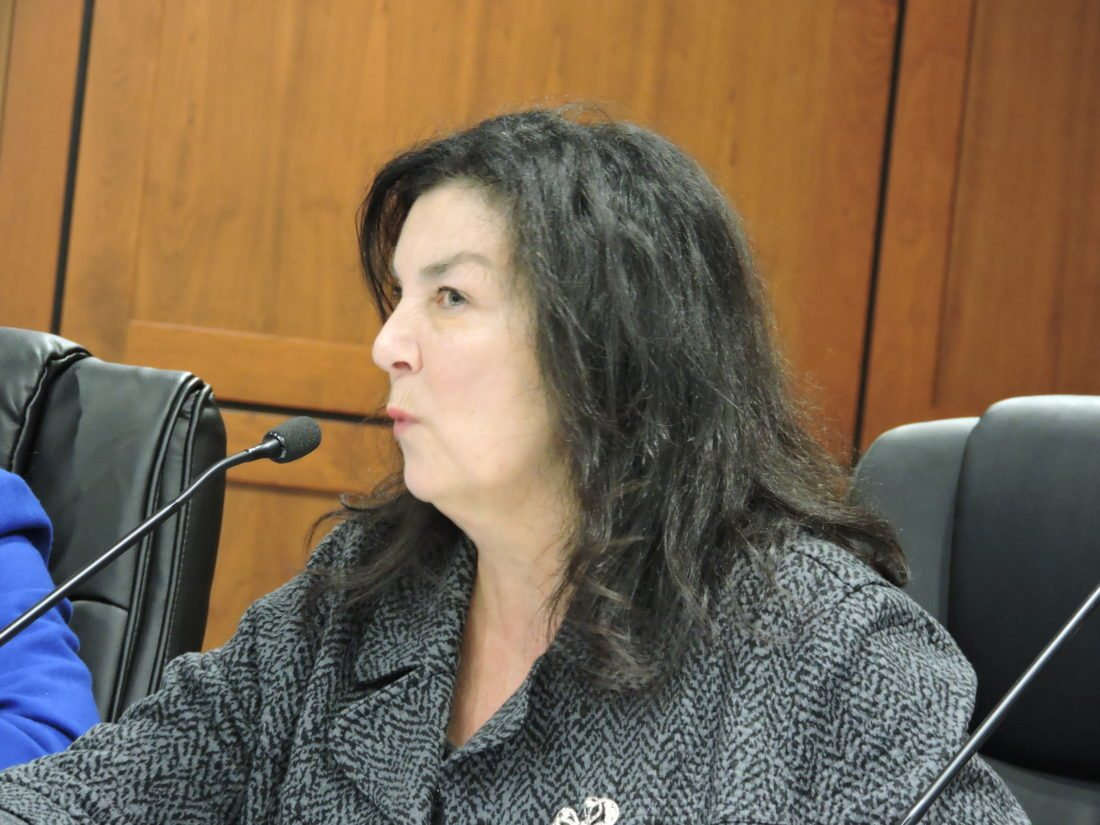 Photo by Alan Olson Wheeling City Solicitor Rosemary Humway-Warmuth speaks during Monday's Wheeling Planning Commission meeting.