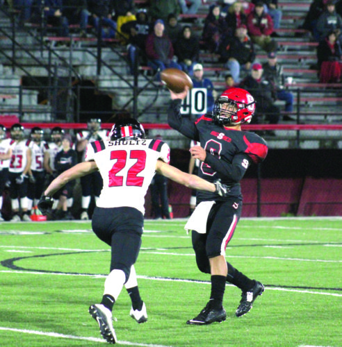 Photo by Joe Catullo Steubenville's Javon Davis doesn't have to throw much, but is effective when he does.
