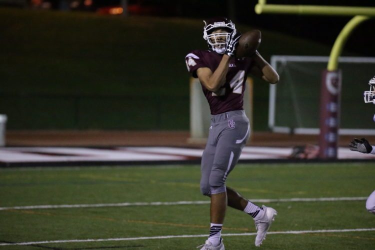 Photo by Alex Kozlowski Anthony Robbins has been a reliable pass catcher in his first season with Wheeling Central.
