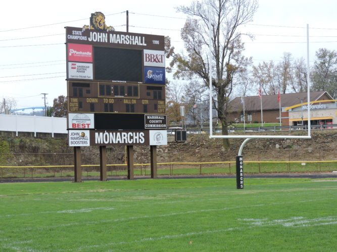 Photo by Alan Olson Monarch Stadium sits quiet as winter approaches, before renovation and repair work takes place.